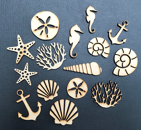 Sea Life MDF Embellishments