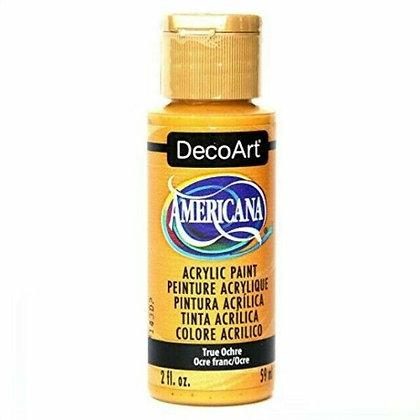 Deco Art Americana Acrylic Paint - True Ochre