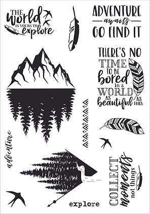 Adventure A5 Clear Stamp Set
