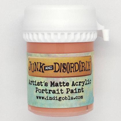 IndigoBlu Artist Matte Acrylic Paint - Apricot Blush, 20ml