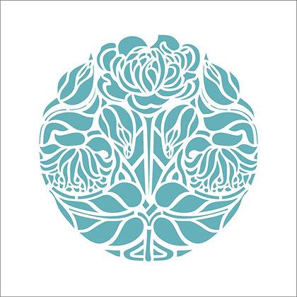 Floral Circle Stencil