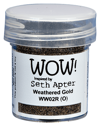 Wow! Embossing Powder - Weathered Gold inspired by Seth Apter
