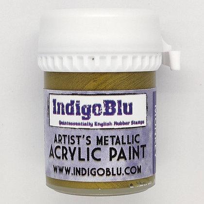 IndigoBlu Artist Metallic Acrylic Paint - Brass Monkey, 20ml