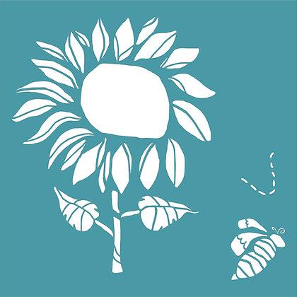 Doodle Sunflower by Zinski Art