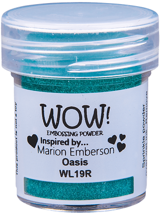 Wow! Embossing Powder - Oasis inspired by Marion Emberson