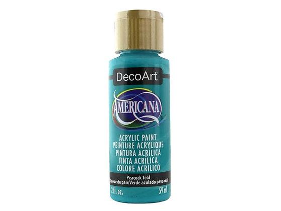 Deco Art Americana Acrylic Paint - Peacock Teal