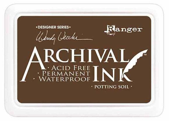 Archival Ink Pad - Potting Soil by Wendy Vecchi