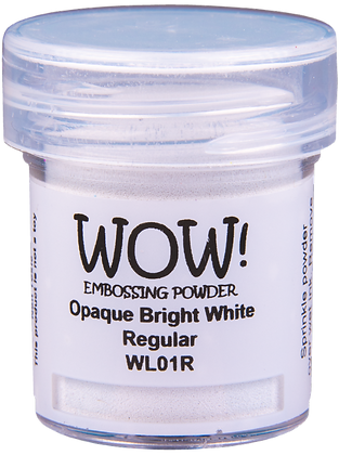Wow! Opaque Bright White Regular Embossing Powder - 15ml