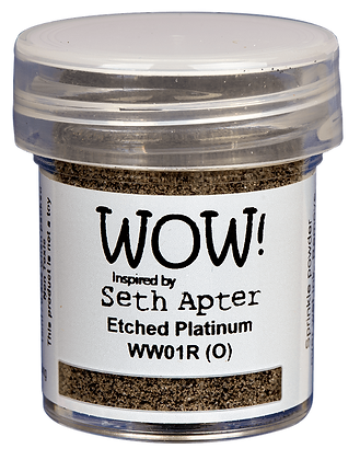 Wow! Etched Platinum Embossing Powder inspired by Seth Apter