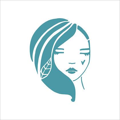 Nature Girl Stencil