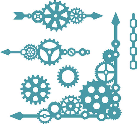 Cogs and Gears Die Set