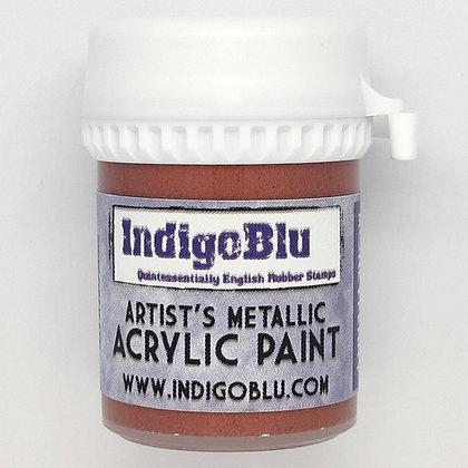 IndigoBlu Artist Metallic Acrylic Paint - Miss Moneypenny, 20ml