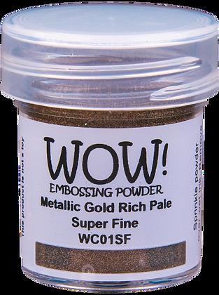 Wow! Metallic Gold Rich Pale Embossing Powder - Super Fine