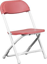 Red Plastic Folding Chair  Chris's Party Rentals Whittier,CA