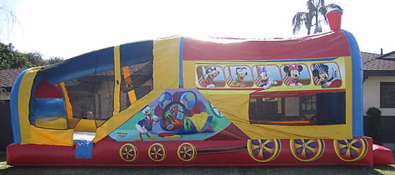 Mickey Choo Choo Express Slide Chris's Jumper Rentals Downey, CA