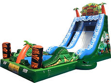 The Tiki Falls Slide Chris's Jumper Rentals Downey, CA