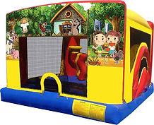 Funny Farm Theme 5-1 Mini Combo Chris's Jumper Rentals Downey, CA