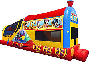 Mickey Choo Choo Express Chris's Jumpers Party Rentals Downey CA