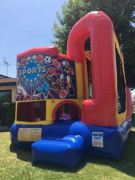 Sports Theme Backyard Combo  Chris's Jumper Rentals Downey, CA