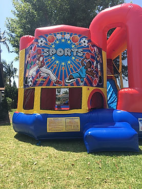 Sports Theme Backyard Combo  Chris's Jumper Rentals Downey, CA
