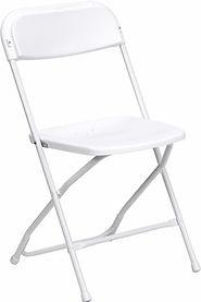 White Folding Chair  Chris's Jumper Rentals Downey, CA