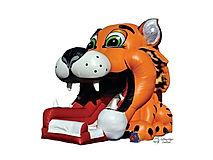 Tiger Big Mouth Slide  Chris's Jumper Rentals Downey, CA