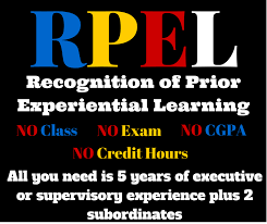Recognition of Prior Experiential Learning (RPEL)