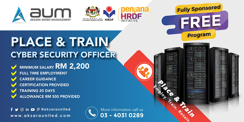 PenjanaHRDF Place&Train CyberSecurity Aksara