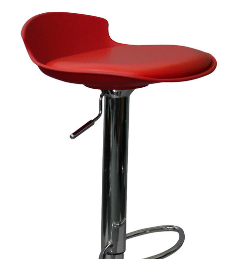 Gina Height Adjustable Stool With Chrome Plated Base