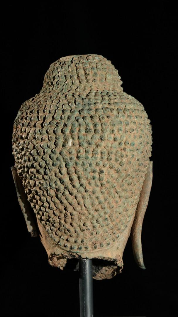 Terracotta bronze Buddha head