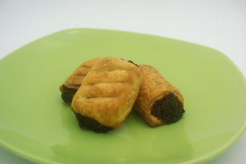 Mushroom and Walnut Sausage Roll