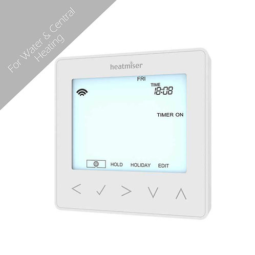 Heatmiser NeoStat-Hw - Hot Water Programmer -White-Silver-Black