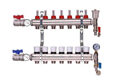 7 Port Underfloor Heating Manifold