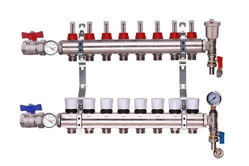8 Port Underfloor Heating Manifold