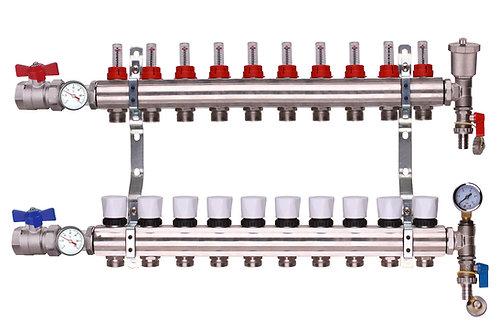 10 Port Underfloor Heating Manifold