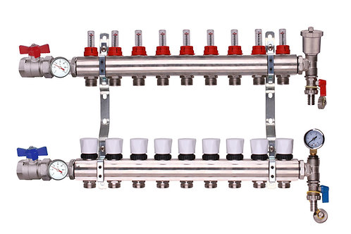 9 Port Underfloor Heating Manifold