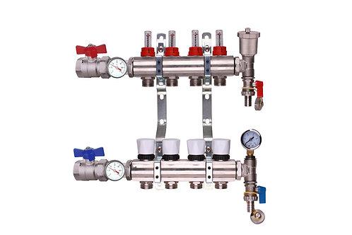 4 Port Underfloor Heating Manifold