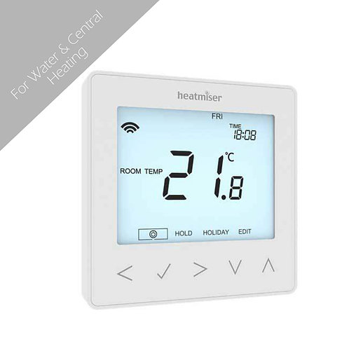 Heatmiser NeoStat Programmable Thermostat -White-Silver-Black