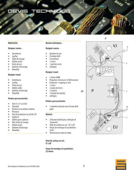 Projet-Electro-Acrylique Devis Technique