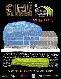 Projections hivernales aux Serres de Verdun