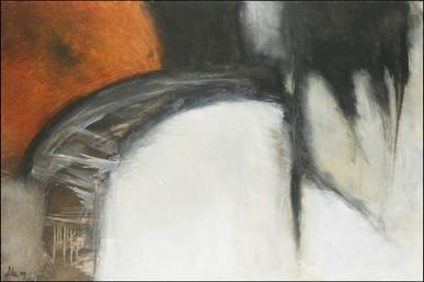 """#282 acrylique sur toile 2009 24""""x36"""" - Prix sur demande"""