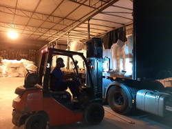 Loading and unloading by Forklift
