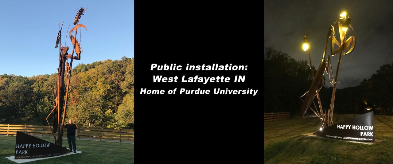 Praying Mantis Public Installation West Lafayette IN