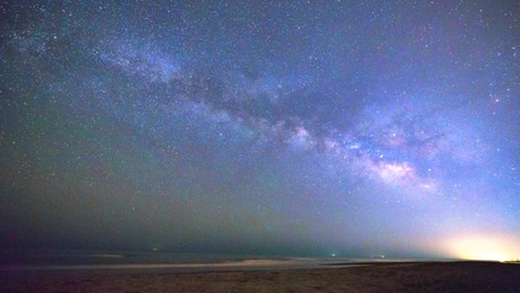 Milkyway Rising over the Ocean | Time Lapse