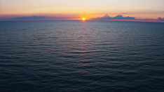 Sunset over Lake Erie   Drone