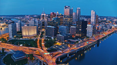 Pittsburgh at Twilight   Drone