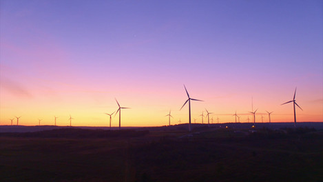 Sunrise over Windmills | Drone