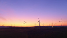 Sunrise over Windmills   Drone