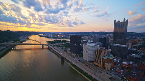 Sunset Pittsburgh 01 | Drone