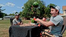 Rubber Bands vs Watermelon in Super Slow Mo
